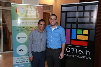 Jeremy Seeff (left) and Shachar Grembek of LGBTECH.