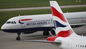British Airways planes at Heathrow's Terminal 5.