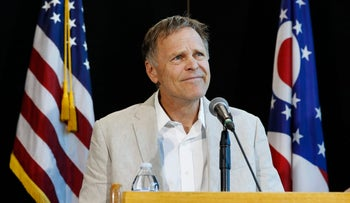 Fred Warmbier, father of Otto Warmbier, a University of Virginia undergraduate student who was imprisoned in North Korea in March 2016, speaks during a news conference, Thursday, June 15, 2017, at Wyoming High School in Cincinnati