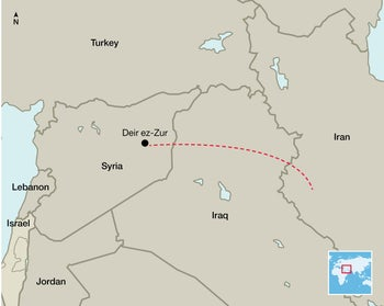 Iran missile launch: Map of region