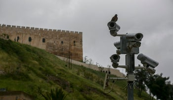 Security cameras in Jerusalem's City of David