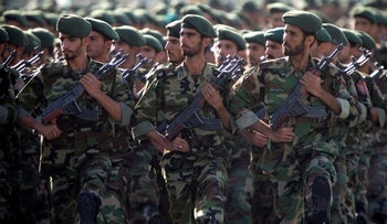 Members of Iran's Revolutionary Guards in 2007.