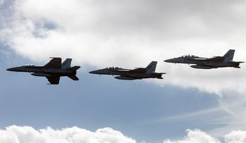 Royal Australian Air Force (RAAF) F/A-18F Super Hornet fighter jets