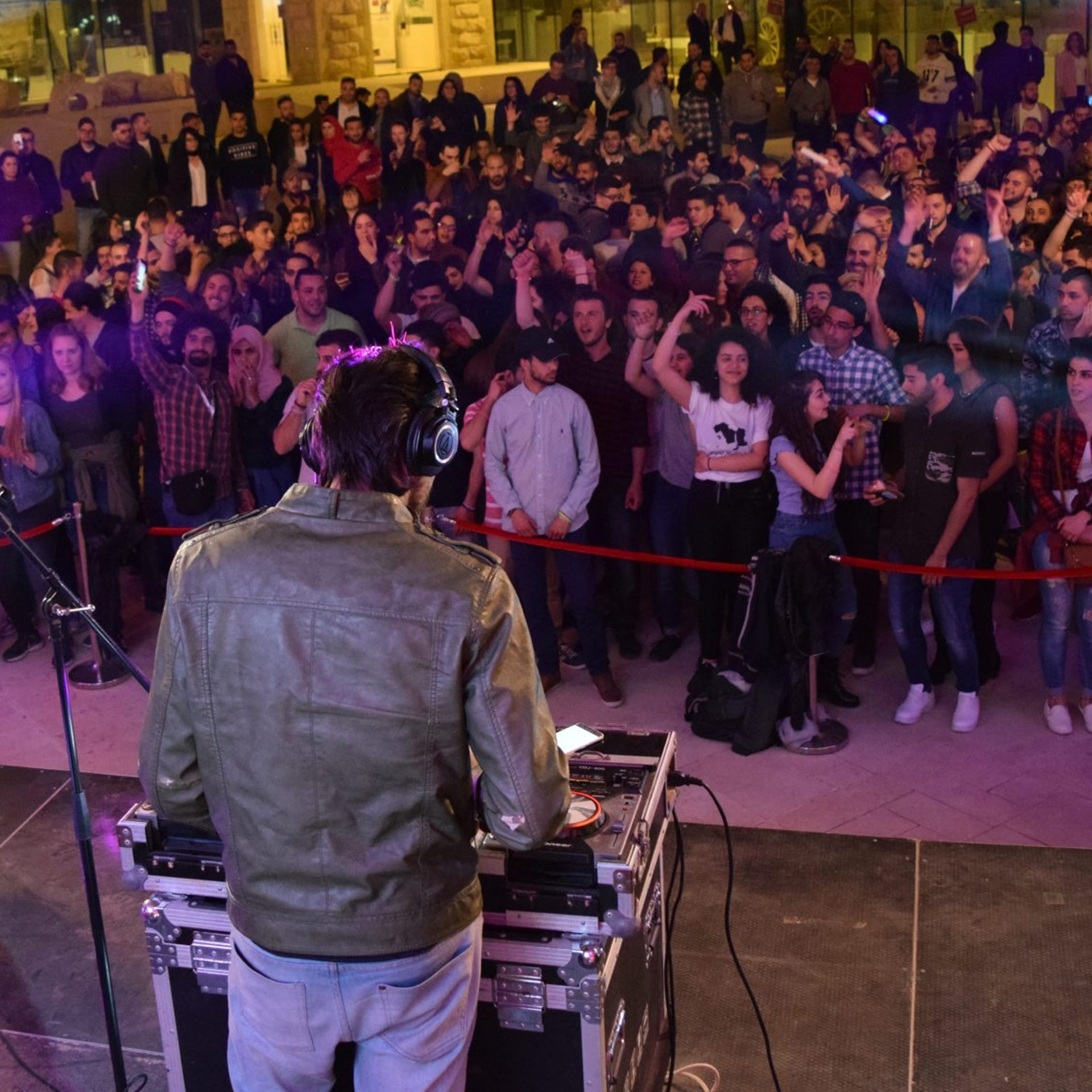 """The audience at the """"Best DJ in Palestine"""" contest."""