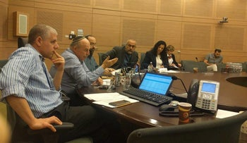 A meeting of the Knesset Constitution, Law and Justice Committee.
