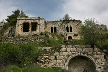 Abandoned Palestinian houses in the old village of Lifta, June 20, 2017.