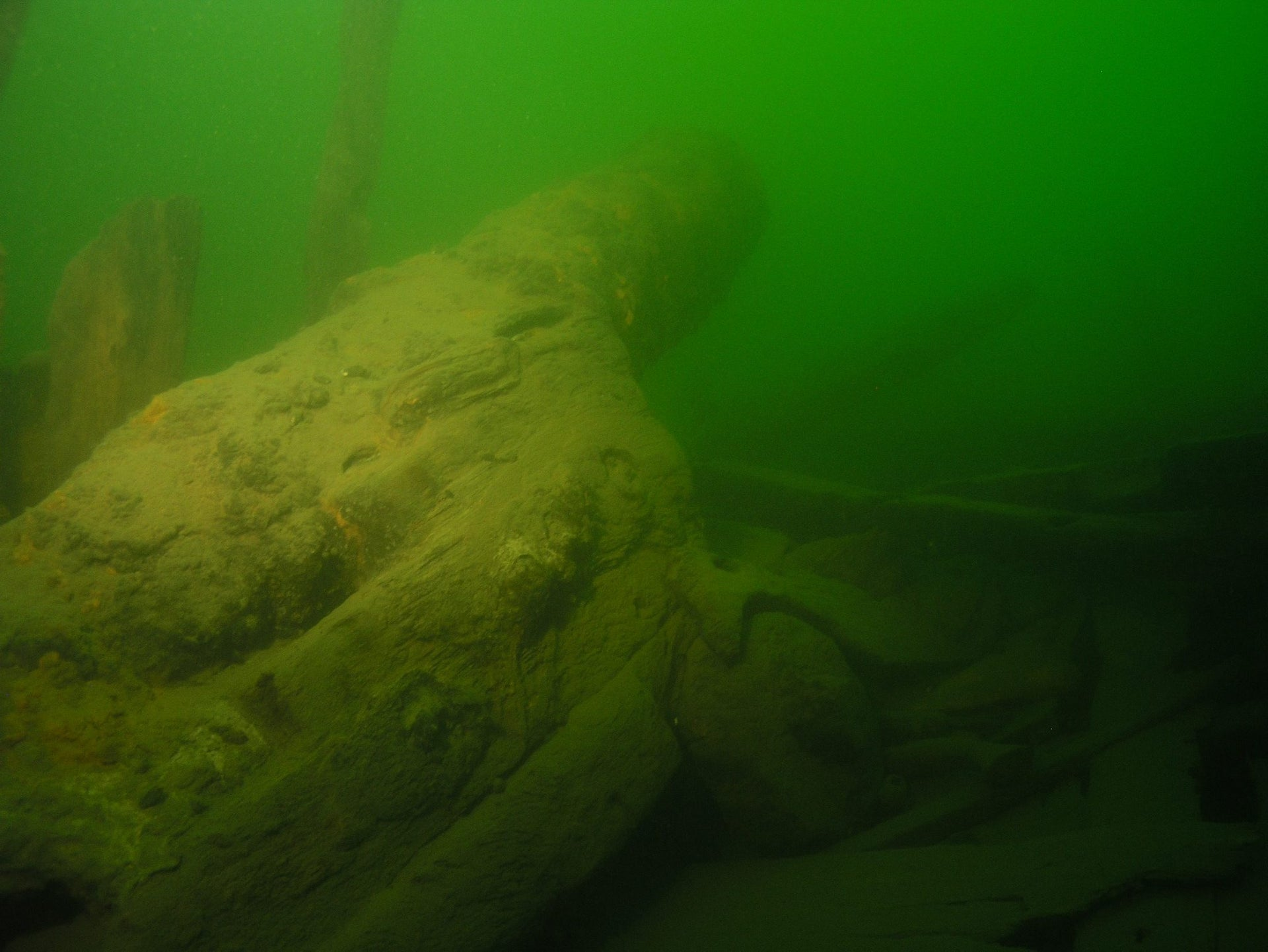 One of the two anchors discovered onboard Bodekull.