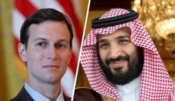 Jared Kushner and Saudi Deputy Crown Prince Mohammed bin Salman.