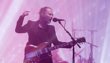 Thom Yorke performing with his band, Radiohead, at the Glastonbury festival, June 23, 2017.