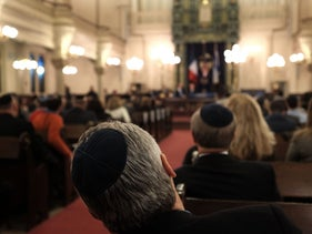 The Park East Synagogue, Manhattan. February 19, 2015