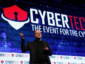 Gil Shwed, founder and CEO, Check Point Software Technologies Ltd, speaks at a Cyber security conference in Tel Aviv, January 31, 2017.