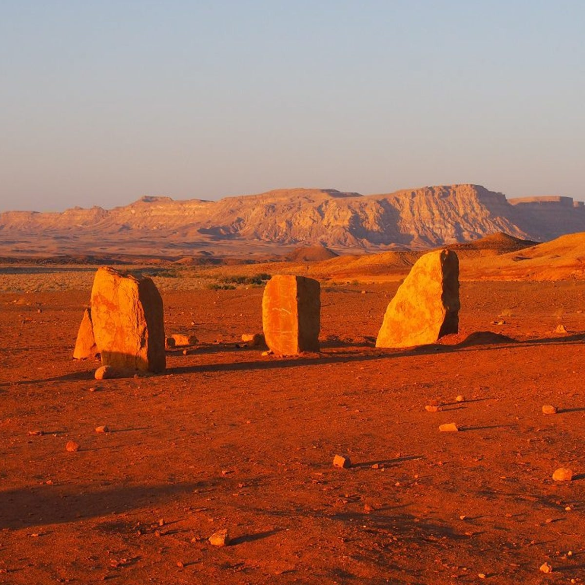 The newly created Ramon Colors National Park at Ramon Crater.