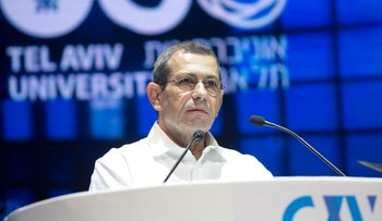 Shin Bet chief Nadav Argaman speaking at a cybersecurity conference in Tel Aviv, June 27, 2017.