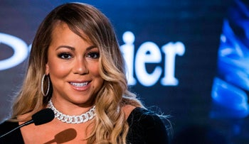 US Singer Mariah Carey speaks at a press conference to announce an agreement with Israeli cosmetics brand Premier Red Sea, in the coastal city of Tel Aviv on June 26, 2017.
