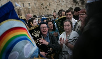 Women of the Wall at the Kotel in Jerusalem.