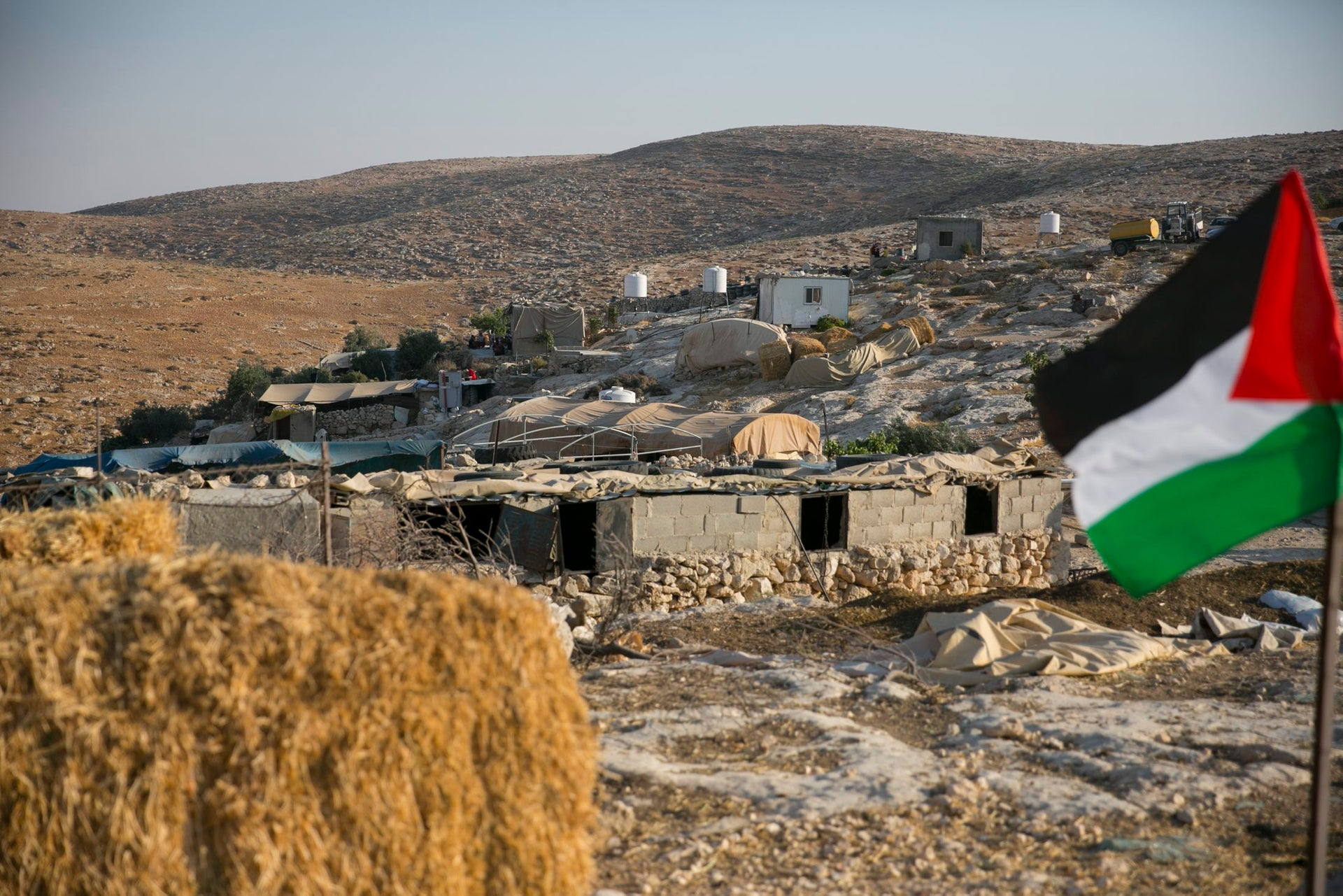 The neighboring village of Umm Faqara whose residents returned after the initial demolition.