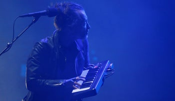 Radiohead lead singer Thom Yorke performs on the opening day of the Coachella Valley Music and Arts Festival in Indio, California, April 14, 2017.