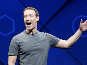Mark Zuckerberg speaks on stage during the annual Facebook F8 developers conference in San Jose, California, U.S., April 18, 2017.
