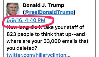Pictured: Trump tweet the day after Trump Jr.'s meeting with Kremlin-linked lawyer