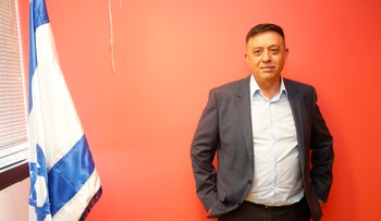 Avi Gabbay, the new chairman of Israel's Labor Party, at a press conference at his campaign headquarters in Tel Aviv, July 11, 2017.