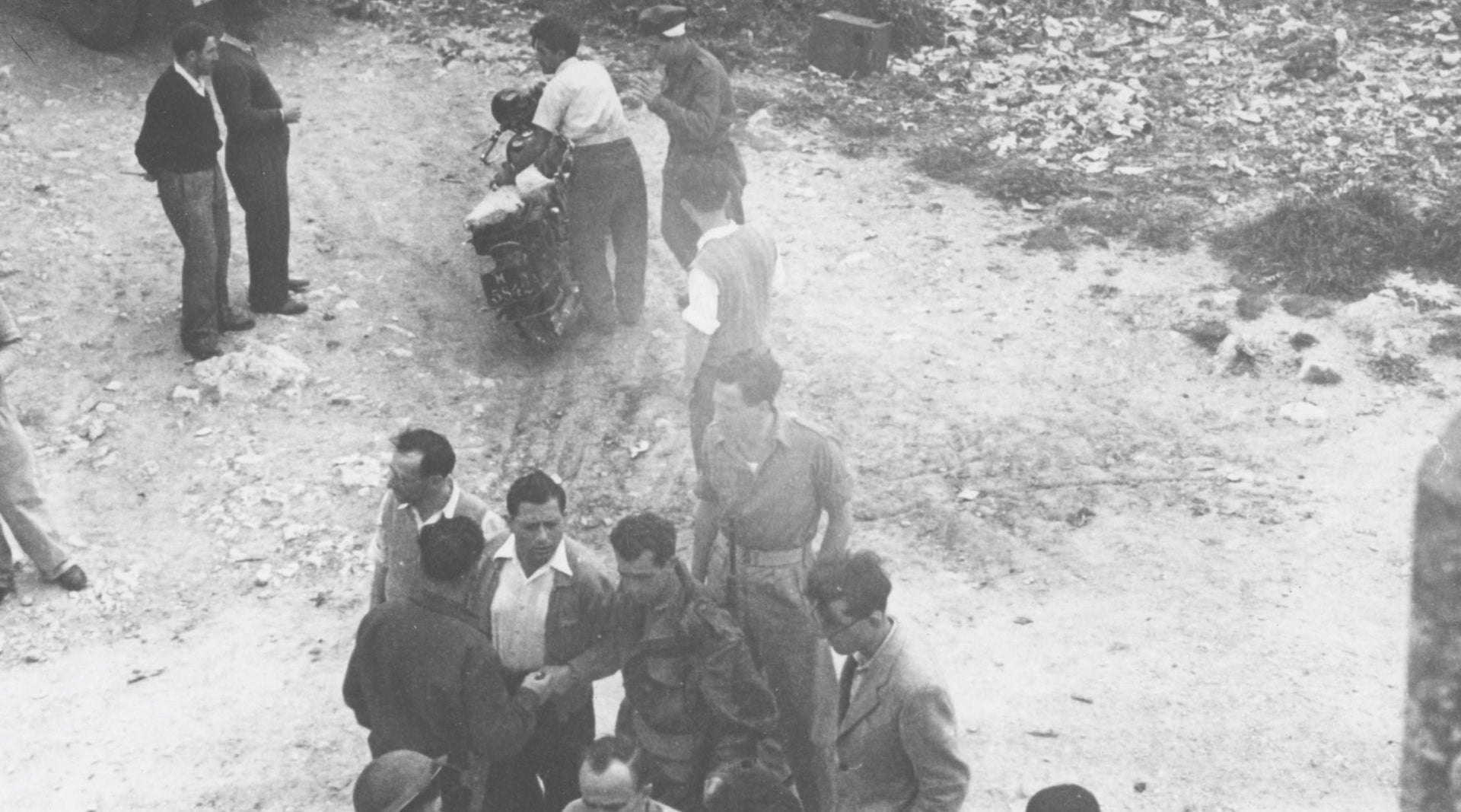Pictures of the occupation of Deir Yassin. Most researchers state that 110 inhabitants of the village were killed there.