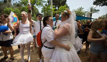 File photo: Gay Pride Parade in Tel Aviv, Israel.