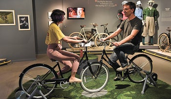 Bloomfield Science Museum celebrates the 200th anniversary of the invention of the bicycle with a new interactive exhibit, '2 x 200.'