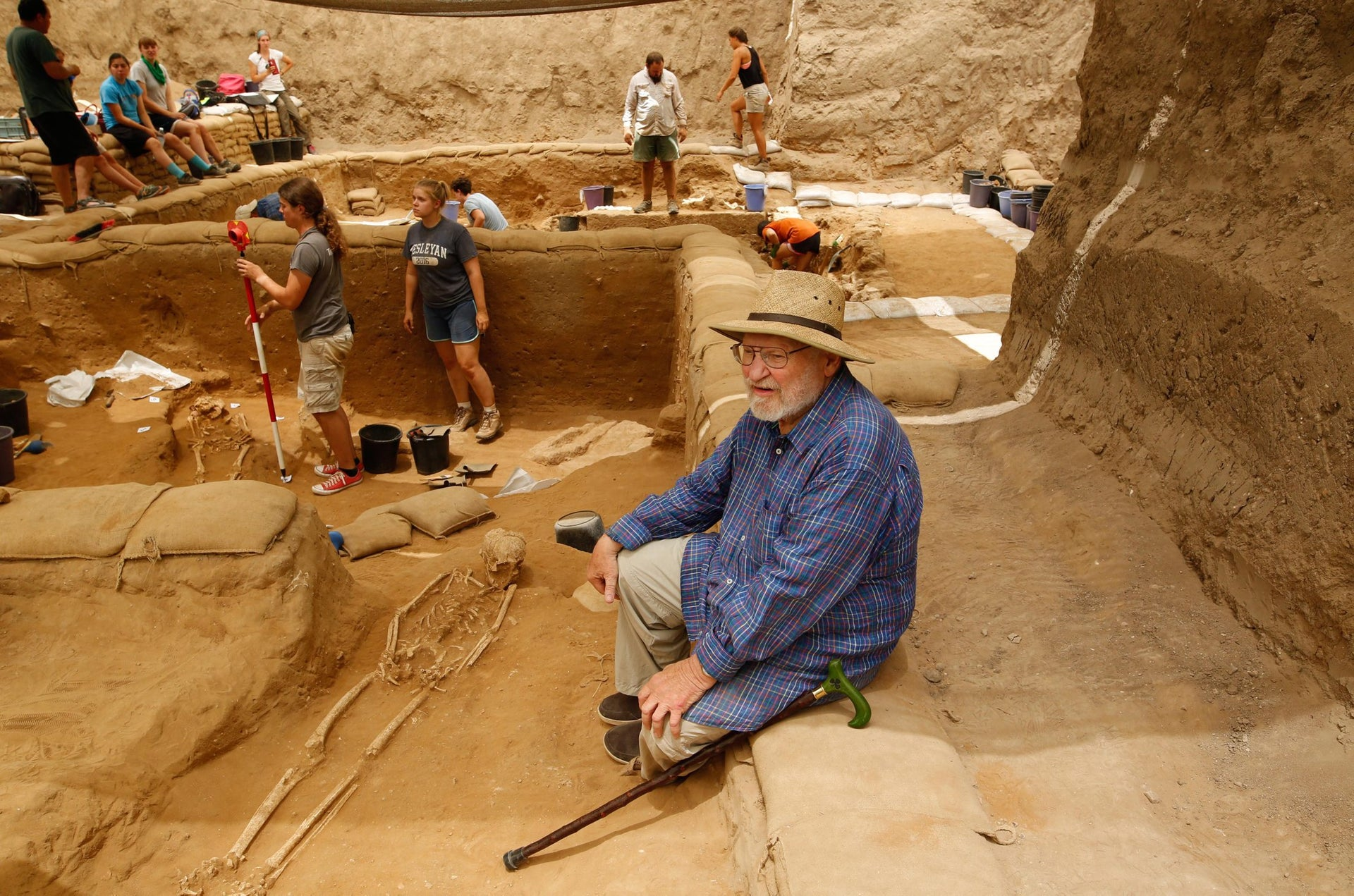 Uncovering the Philistine graveyard, dating to about 3,000 years ago, in Ashkelon.