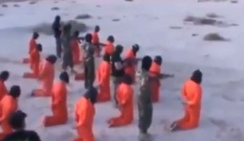 Image from purported execution of captives in Benghazi by Mahmoud al-Werfalli, a commander in the Libyan National Army