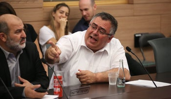 Coalition whip David Bitan in a Knesset committee, July 25, 2017