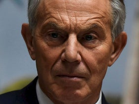 FILE PHOTO: Britain's former Prime Minister Tony Blair attends a meeting of the European People's Party in Wicklow, Ireland, May 12, 2017