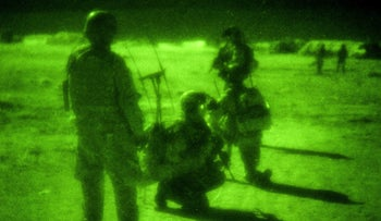 U.S. Special Operations service members in Afghanistan, April 25, 2011