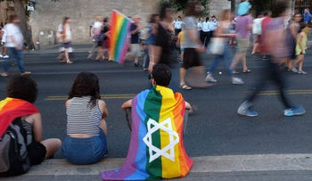 The Gay Pride Parade in Jerusalem, 2017.