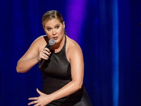 """Amy Schumer performing in her new Netflix show, """"The Leather Special."""""""