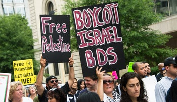 File photo: Protesters calling for a boycott of Israel.