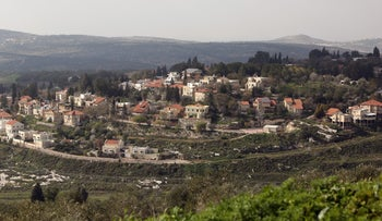 A view of the Israeli settlement of Kedumim, near the Palestinian town of Nablus.