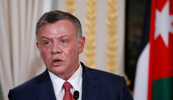 Jordan's King Abdullah attends a joint news conference following a meeting with the French president at the Elysee Palace in Paris, France, June 19, 2017.