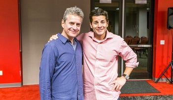 Scott Blakeman, left, and Dean Obeidallah. Both comedians are interested in using comedy to foster peace between their religions.