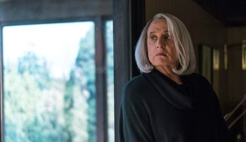 """This image released by Amazon shows Jeffrey Tambor in """"Transparent.""""  Tambor was nominated for an Emmy Award for outstanding lead actor in a comedy series on Thursday, July 13, 2017"""
