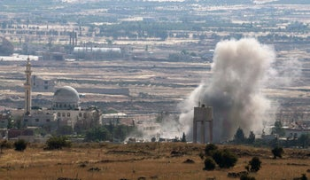 Fighting in Southern Syria near the Israeli border on June 17th, 2015.