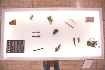Rotem Bides' final project was made up of objects she took from the Auschwitz-Birkenau concentration camps.