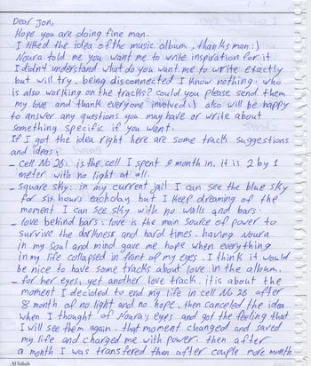 Letter by Bassel Khartabil from Adra prison in Syria from March 2014 and published by Jon Phillips, a friend and activist from the #FreeBassel campaign