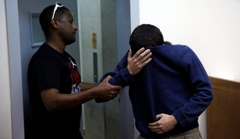 The Israeli-American JCC bomb hoax suspect, at a hearing in Rishon Letzion Magistrate's Court, March 23, 2017.
