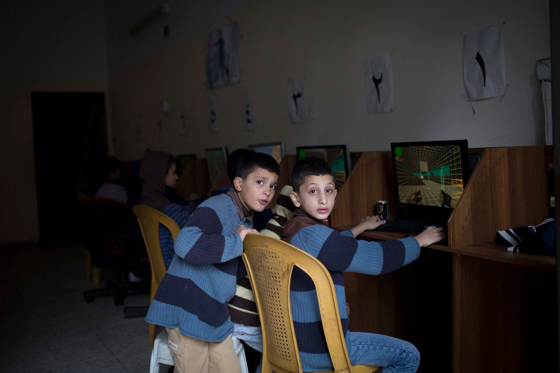 Children at a youth center in Shoafat.