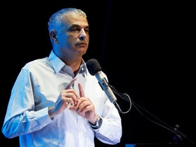 Israeli Finance Minister Moshe Kahlon gestures as he speaks at an event in Ofakim, southern Israel May 29, 2017.