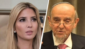 Ivanka Trump and Rabbi Haskel Lookstein