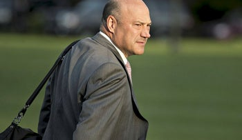 Gary Cohn, director of the U.S. National Economic Council, walks toward Marine One on the South Lawn of the White House in Washington, D.C., U.S., on Wednesday, July 12, 2017