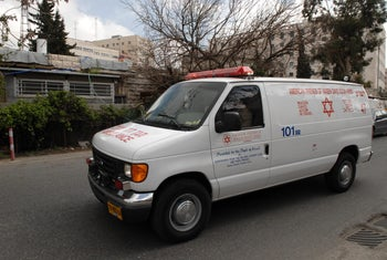An Israeli ambulance funded by the American Friends of Magen David Adom.