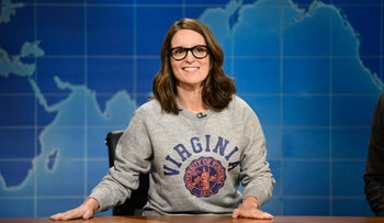 """Tina Fey during """"Weekend Update: Summer Edition,"""" August 17, 2017."""