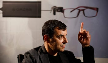 Amnon Shashua's OrCam, makers of a wearable device which provides visual aid for visually impaired people, Jerusalem, March 28, 2017.